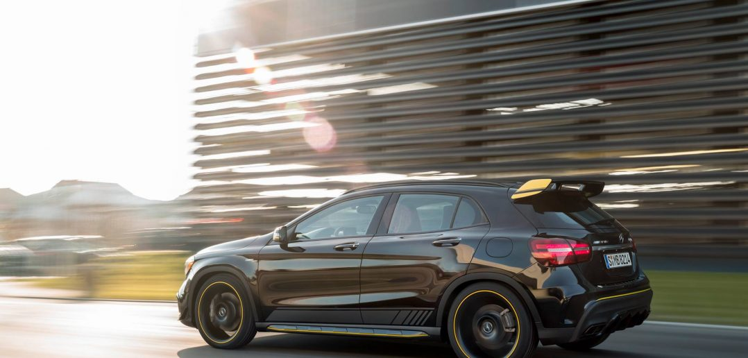 gla 45 amg receives upgrade including yellow night edition amg in years. Black Bedroom Furniture Sets. Home Design Ideas
