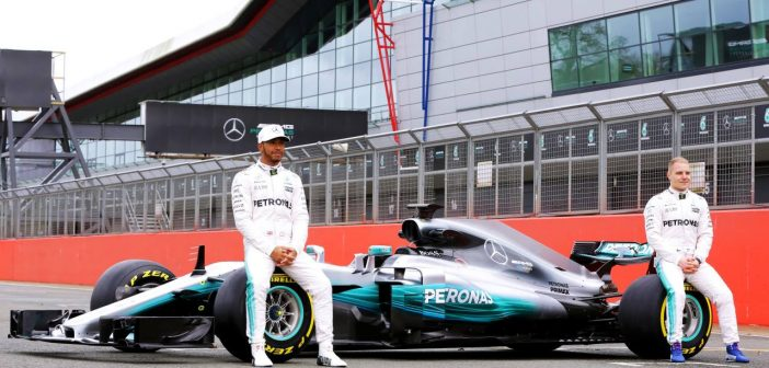 Mercedes-AMG revealed its blinding 2017 F1 #W08 race car