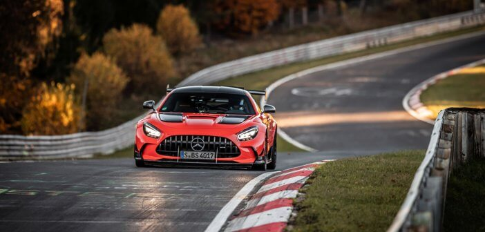 The AMG GT Black Series is the fastest production car around the Nürburgring