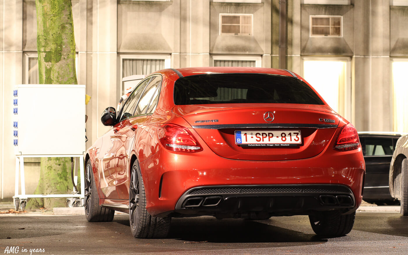 Spotted Designo Hyacinth Red Mercedes Amg C 63 S Amg In Years
