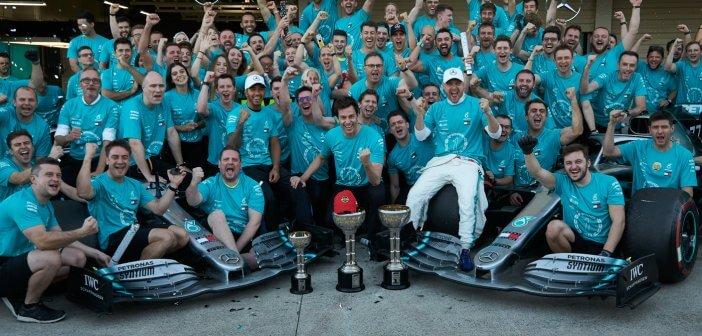 Mercedes-AMG celebrating a 6th constructors' title in Formula 1