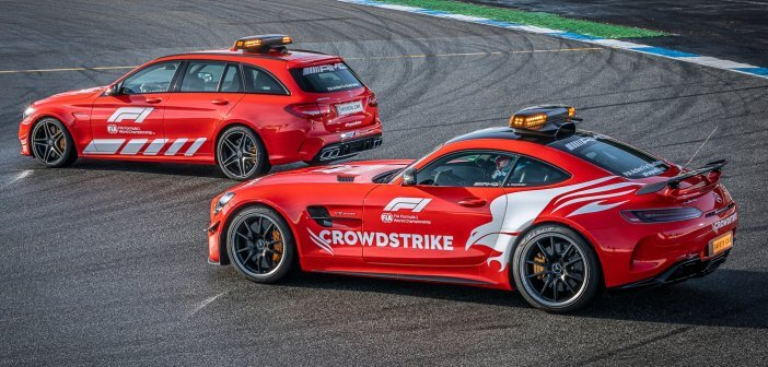 Red AMG safety car for the new Formula 1 season